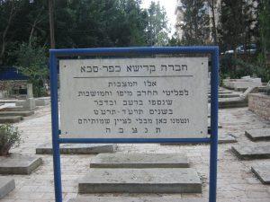 """חלקת הקברים של מגורשי ת""""א-יפו בכפר-סבא"""