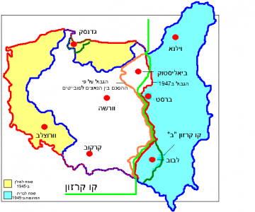 Map of Poland (1945) HE