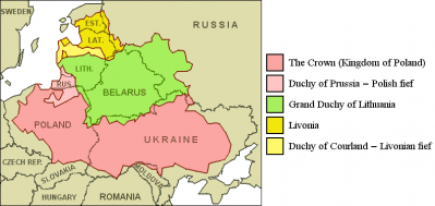 Polish Lithuanian commonwealth 1619 map
